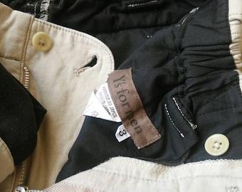 RARE Vintage Y's For Men Yohji Yamamoto I.S Issey Miyake Junya Watanabe Comme des Garçons Top Designer Japan Pants Size3