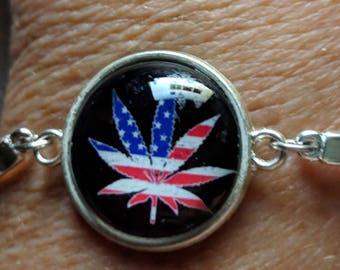 Pot Leaf Bracelet