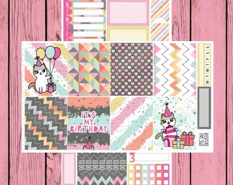 Happy Birthday to You - Itty Bitty Kitty - Birthday Mauly - 2 page mini kit