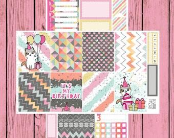 Happy Birthday to You - Itty Bitty Kitty - Birthday Mauly - 2 page mini kit