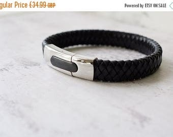 Summer Sale Hidden Message Leather Bracelet - Personalized Gift - Choice of Colours - Men's Gift