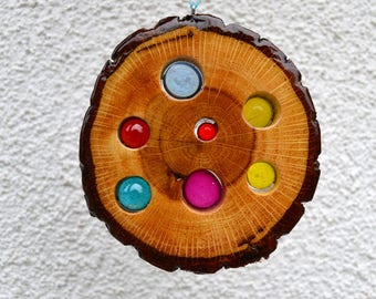 Sun catcher 12 cm-oak