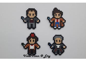 Doctor Who The Doctor Pixel Perler Sprites or Magnets