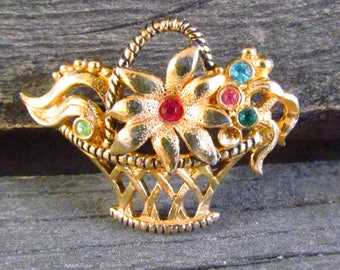 Brooch Vintage women Jewelry women Brooch for women Unique Gift gold Jewelry gold Brooch Retro jewelry Old jewelry rhinestone Jewelry