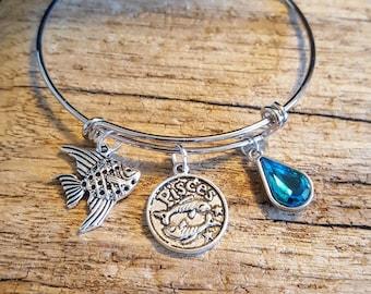 Zodiac Charm Bracelet, Aries, Taurus, Gemini, Cancer, Leo, Virgo, Libra, Scorpio, Sagittarius, Capricorn, Aquarius, Pisces