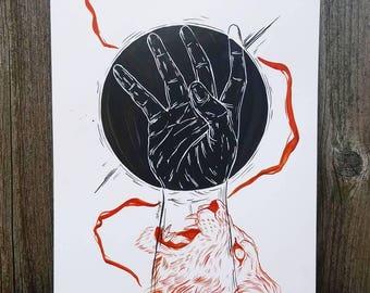 Eclipse In Leo Print
