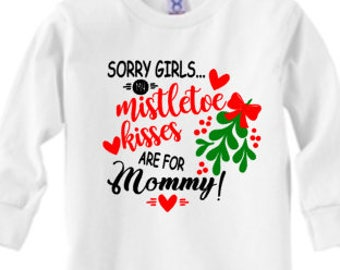 Christmas shirt / Mistletoe kisses/ boys shirts
