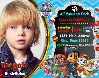 Paw Patrol Invitations - Paw Patrol Birthday Party -  Boys Paw Patrol Birthday Invitations - Paw Patrol Party - Invitations for boys -
