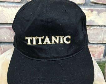 Vintage 90s TITANIC The movie promo trucker cap / leonardo di caprio / kate winslet