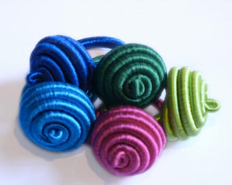 Adjustable ring, ring shaped spiral jewelry inspired by Mali