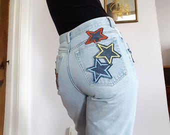 One of Kind Light Wash Star Jeans
