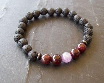 Mens bracelet, Mens, Men bracelet, Gift for men, Men's bracelet, Boyfriend gift, Mens bracelet, Mens Lava bracelet, Amethyst bracelet men