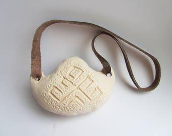 Ceramic Ocarina - Vintage Slavic Clay Flute