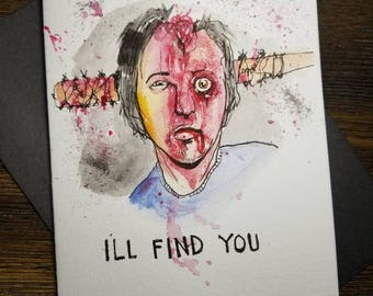 Glenn The Walking Dead hand painted greeting card. One of a kind! FREE shipping.