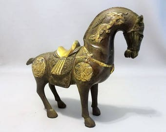 "Bronze horse inspired by the ""Tang period '-China-late 20th century-kado man-gift wife"