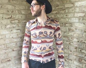 70s Polyester Disco Shirt