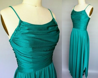 aquarius / 1970s grecian style studio 54 disco dress / 2 4 xs