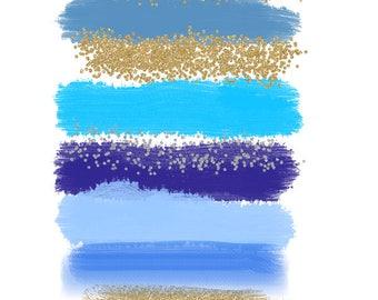 Watercolor Brush stroke clip art - Paint splatter clip art, Digital brush strokes, Paint clip art