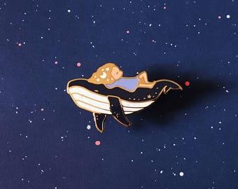 Minor Cosmetic Flaw* Celestial Whale Cosmic Enamel Pin Badge