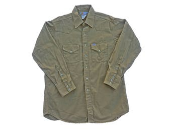 Carhartt Shirt Vintage Rugged Outdoor Wear Khaki Twill