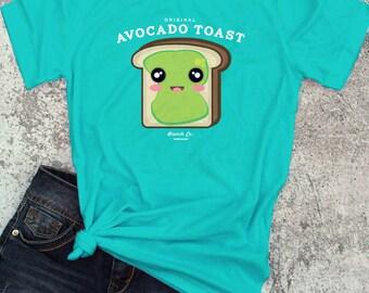 Avocado Toast Brunch T-Shirt / Humorous Funny T-shirt Top Tee Shirt Avocado Toast design - Ink Printed