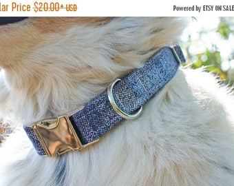 Dog Collar-Denim Dog Collar-Blue Dog Collar-Male Dog Collar-Boy Dog Collar-Custom Dog Collar-Fashion Dog Collar-Designer Dog Collar