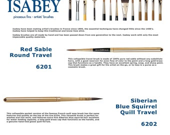 Isabey 6201 & 6202 Travel Round Brush - Made in FRANCE
