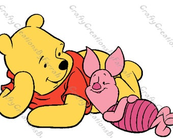 Winnie the Pooh and Piglet SVG PNG Digital File