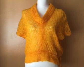 1950's Glentex Acrylic Short Sleeved Sweater (One Size)