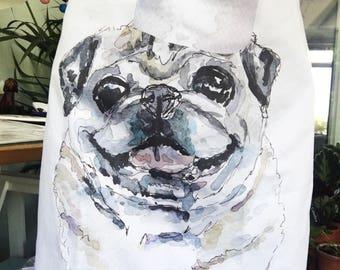 pug apron, gift, pug lover, pug owner, pug present, pug dog, pug love, Dog present, fathers day gift, Pug dog gift, Apron pug, puggle gift,