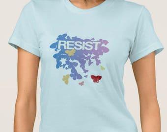 RESIST - Butterflies Pastel TShirt