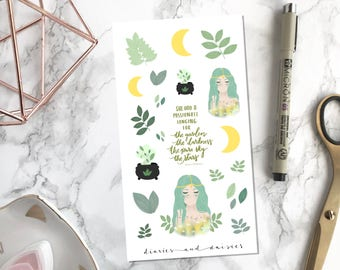 Wiccan Witch Halloween Planner stickers