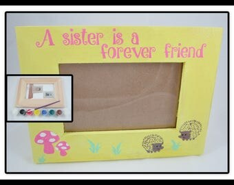 Diy craft kits etsy for Decorate your own picture frame craft