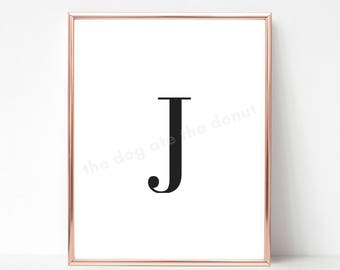 Letter J, Letter J Printable Quote, Letter Art, Letter J Wall Decor, Printable Art, Alphabet Printable, Alphabet Print, Home Decor, Monogram