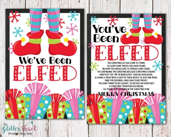 photo about You Ve Been Elfed Printable known as 40 Enjoyment Imaginative Xmas Elf Upon The Shelf Printables