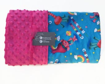 Trolls Themed Pink Toddler Blanket