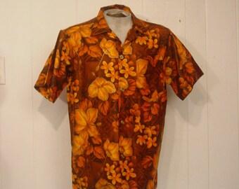 Vintage Hawaiian shirt, vintage clothing, 1950s Hawaiian shirt, Tiki Hawaiian shirt, vintage clothing, XL