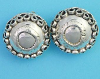 Vintage Mexican Silver Clip on Earrings