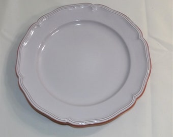 "Loneoak & Co. Queen Anne Glazed Terra Cotta Huge 12"" Dinner Plate, Quantity 1"