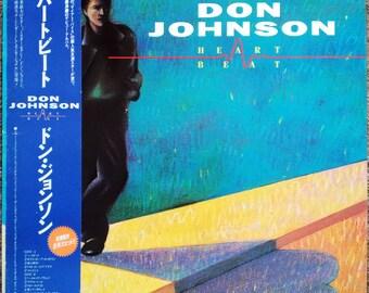 "1986 ""NM Wax"" 見本盤 Sample Don Johnson Heartbeat 28•3P-778 Japan Heartache Away Miami Vice"
