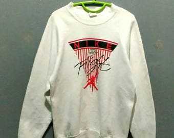 This week offer!!!!! Free shipping for 80s 90s Nike Bootleg Air Flight Michael Jordan Sweatshirt Adult Large Size Polyester Cotton Chest 21""