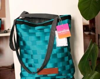 Turquoise Tote bag, waterproof shopping bag, waterproof market bag, beach bags, travel bag,shoulder bags,waterproof  summer tote bag