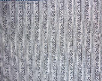 Vintage Dan River Navy Blue and White Pillowcase
