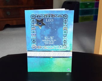 Leo Horoscope Birthday Card - Zodiac/Star Sign -luxury personalised unique quality special astrological UK