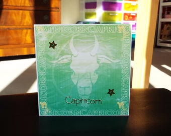 Capricorn Horoscope Birthday Card - Zodiac/Star Sign -luxury personalised unique quality special astrological UK