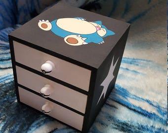 snorlax pokemon desk tidy trinket box