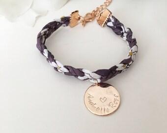 Rose Gold Plaited Liberty Bracelet