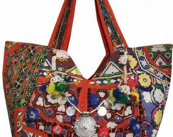 Banjara bag, Bohemian handbag, Vintage embroidered bag, Vintage bag, Tribal bag, Boho tote bag, Gypsy bag, Bohemian bag
