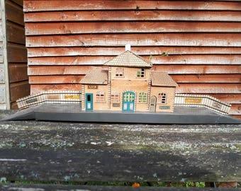 Vintage Tin Toy Station