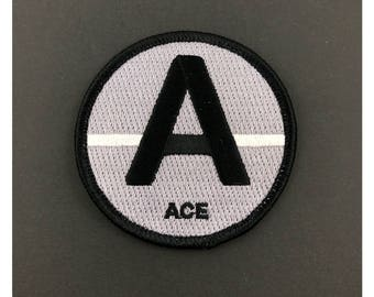 ACE Asexual identity patch embroidered iron on Patch LGBTQ gay Lesbian queer sexuality homosexual gender gay gift same sex rainbow pride